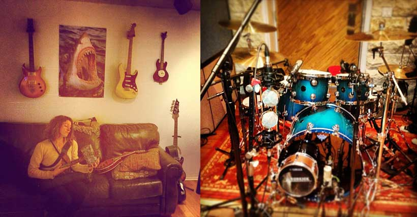 Sharkspit Studio, drum tracking for music recording
